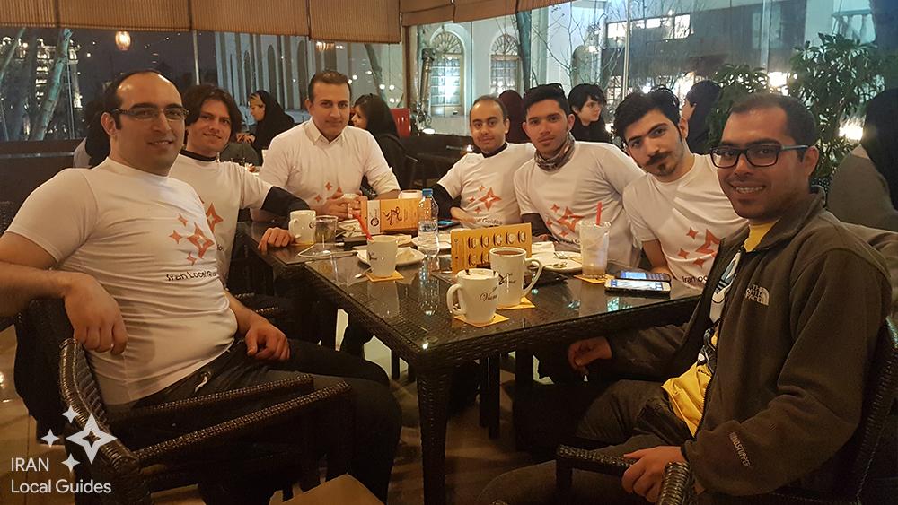 حضور راهنمایان محلی ایران در کافه ویونا باغ فردوس
