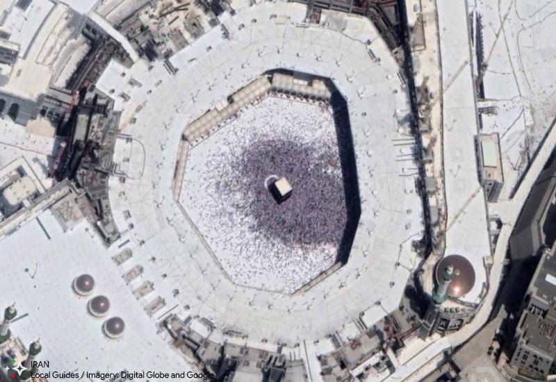تصویر ماهوارهای کعبه در آوریل 2018