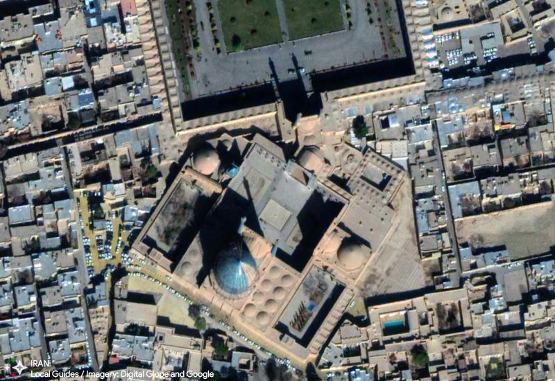 تصویر ماهوارهای میدان نقش جهان در آوریل 2018