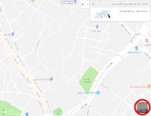 انتخاب نمای ماهوارهای برای افزودن خیابان