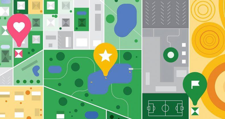 مکانهای ذخیره شده در گوگل مپ