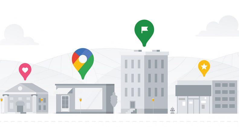 طرحی گرافیکی از مشارکت در گوگل مپ